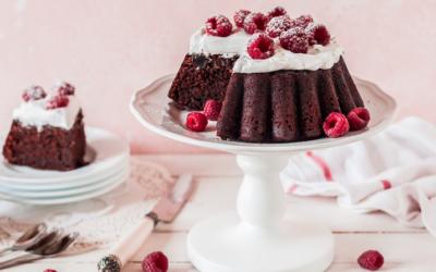 Chokoladekage med Hvid ganache