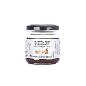 honning med chokolade og pebermynte